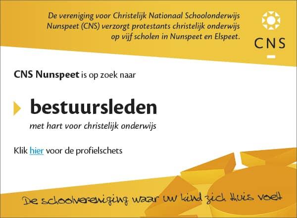 CNS Nunspeet zoekt bestuursleden